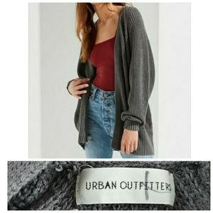 URBAN OUTFITTERS GREY POCKETED CARDIGAN SWEATER
